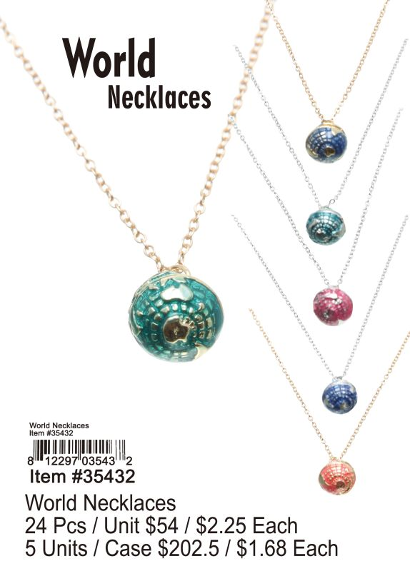 World Necklaces - 24 Pieces Unit