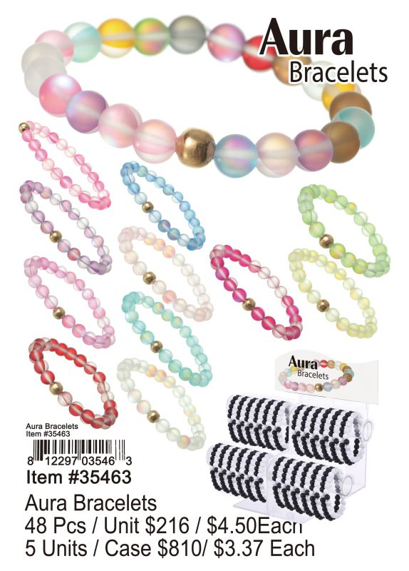 Aura Bracelets - 48 Pieces Unit