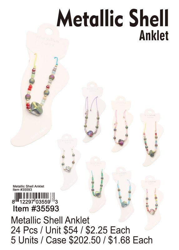 Metallic Shell Anklet Wholesale