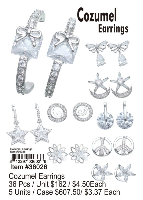 Cozumel Earrings - 36 Pieces Unit