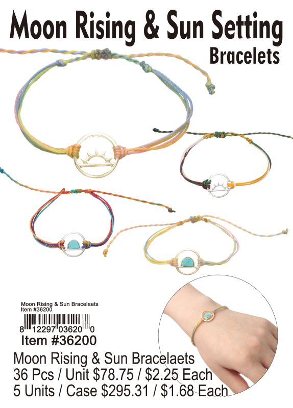 Moon Rising&Sun Bracelets - 36 Pieces Unit