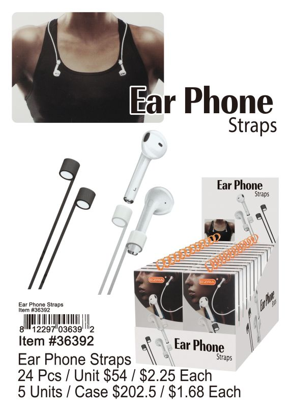 Ear Phone Straps - 24 Pieces Unit