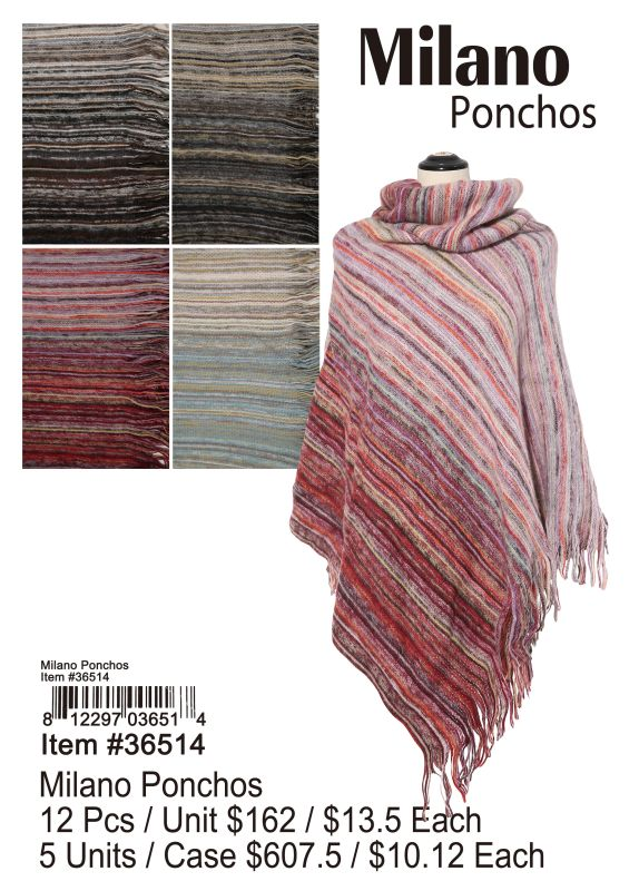 Milano Ponchos Wholesale