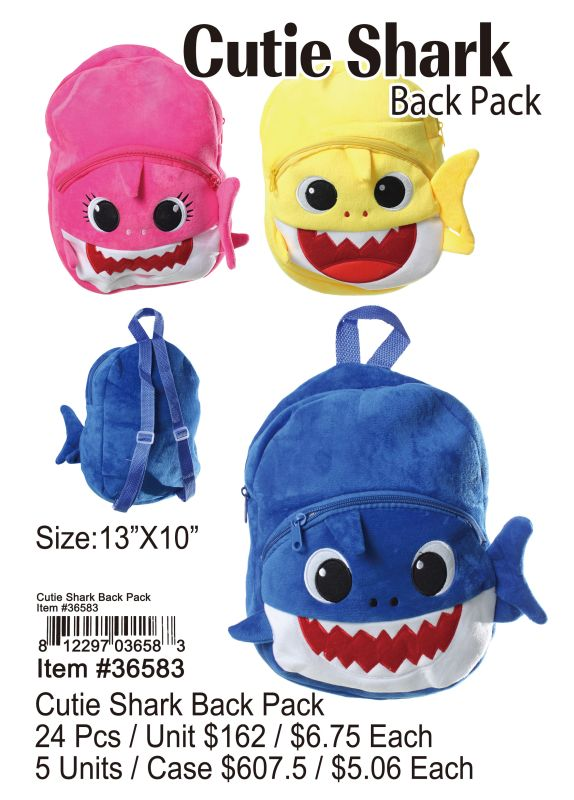 Cutie Shark Back Pack Wholesale