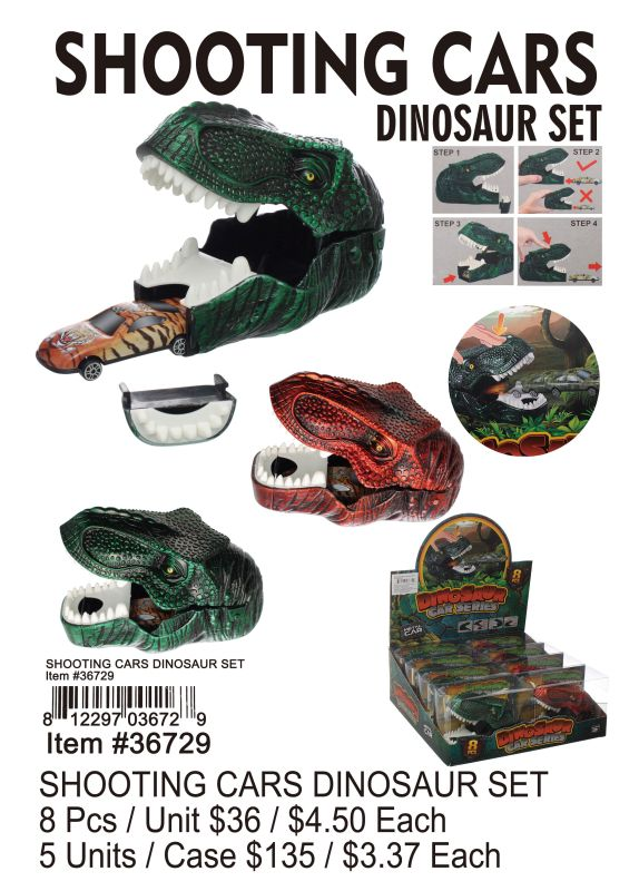 SHOOTING CARS DINOSAUR SET Wholesale