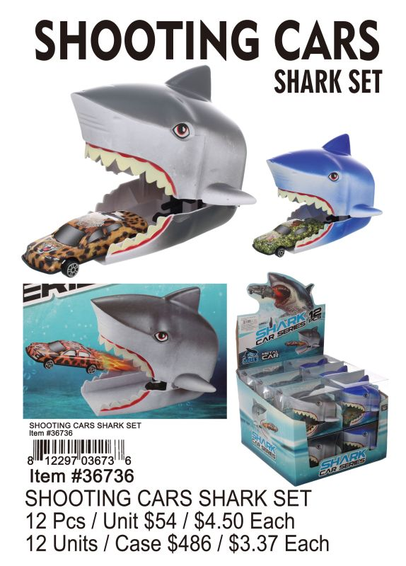 SHOOTING CARS SHARK SET Wholesale