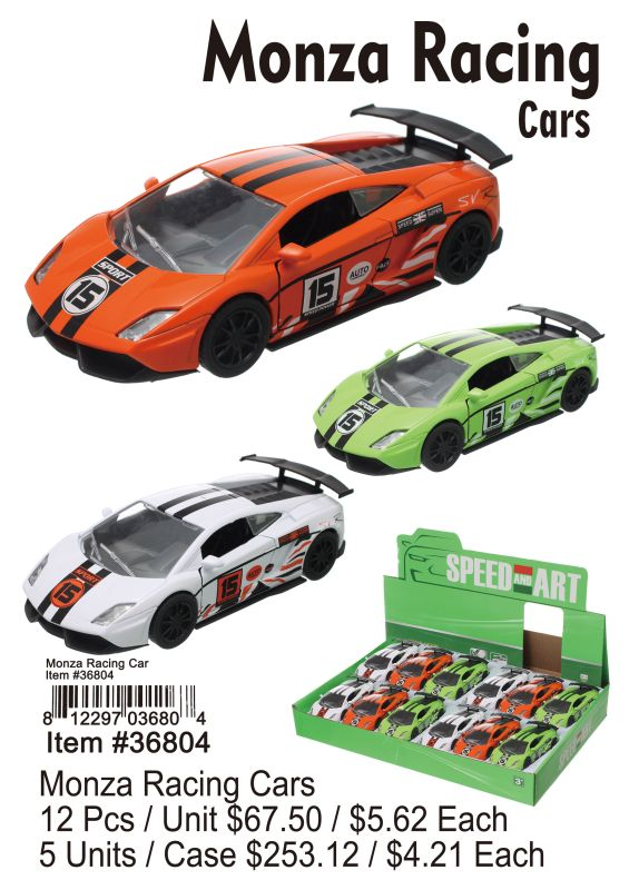 Monza Racing Cars - 12 Pieces Unit