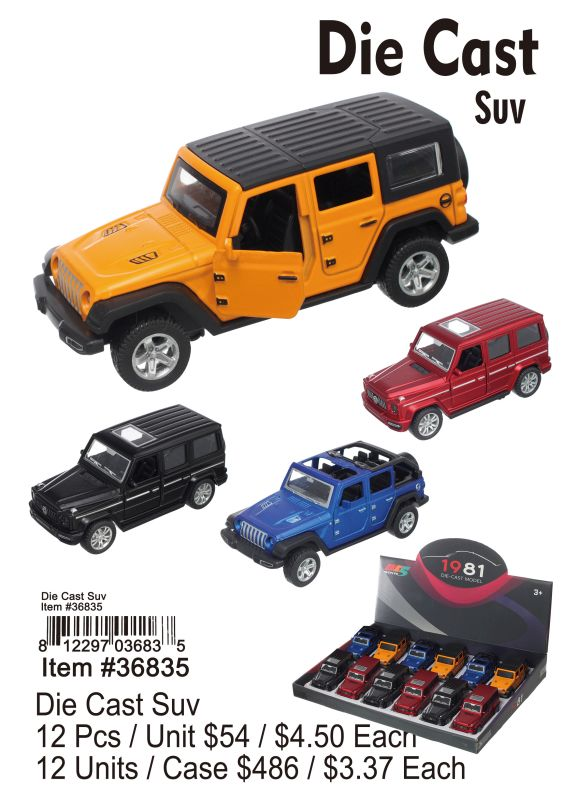 Die Cast Suv - 12 Pieces Unit
