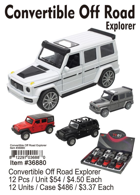Convertible Off Road Explorer - 12 Pieces Unit