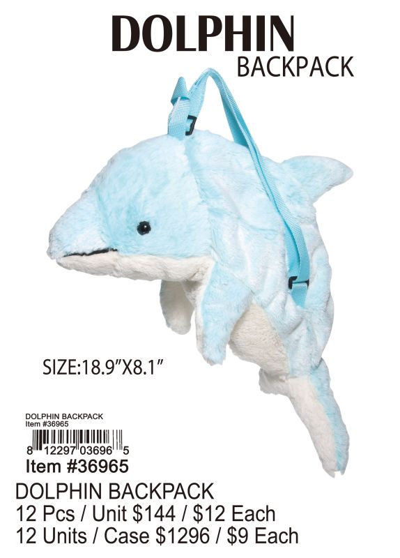 Dolphin Backpack - 12 Pieces Unit