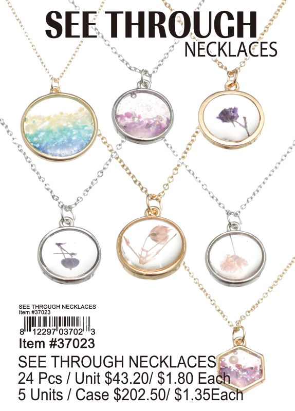 See Through Necklaces - 24 Pieces Unit