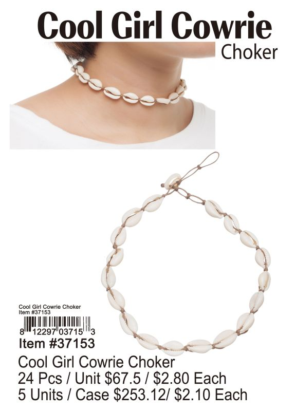 Cool Girl Cowrie Choker - 24 Pieces Unit