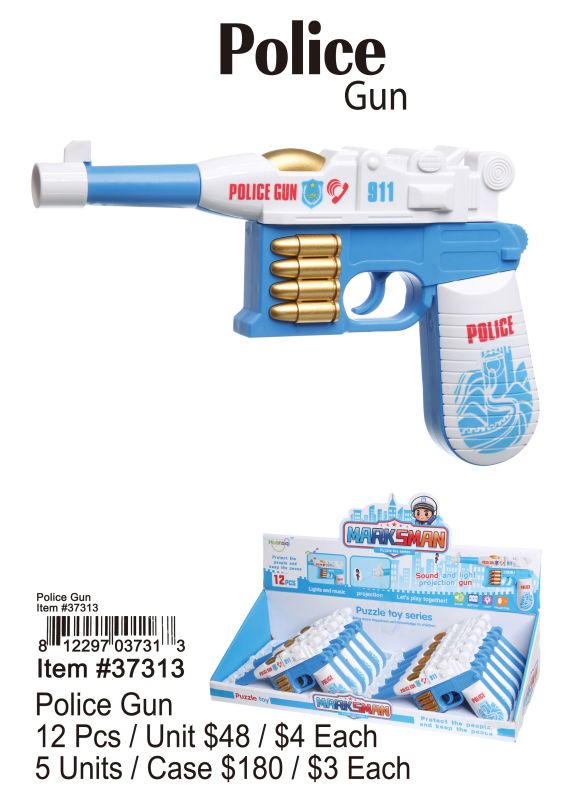 Police Gun - 12 Pieces Unit