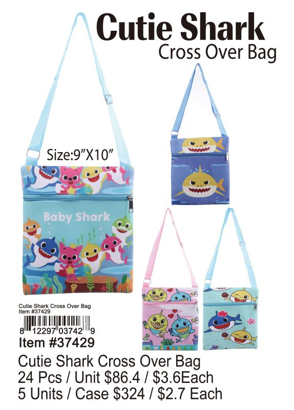 Cutie Shark Crossover Bag - 24 Pieces Unit