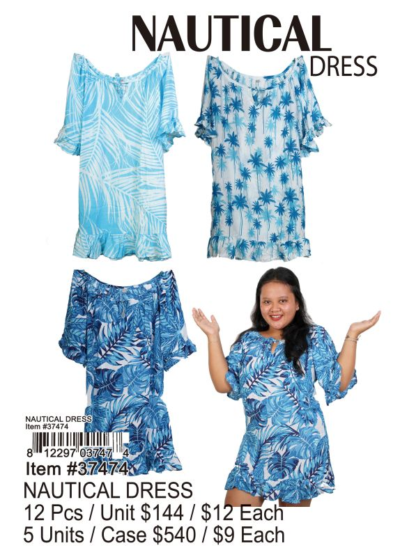 Nautical Dress - 12 Pieces Unit