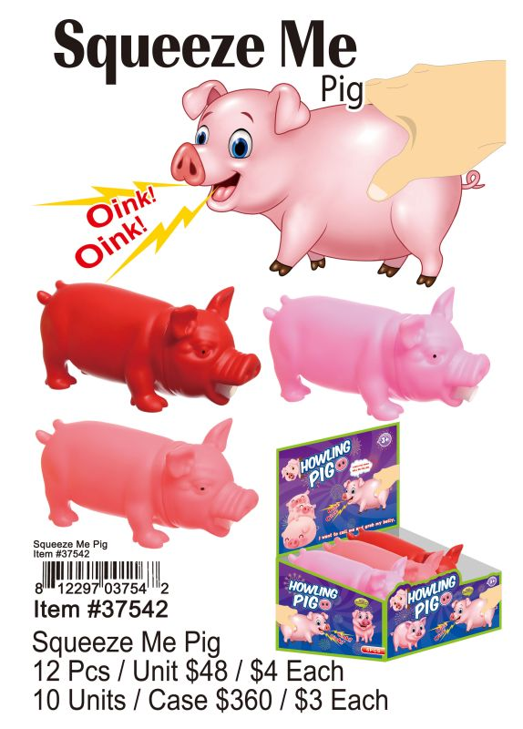 Squeeze Me Pig - 12 Pieces Unit