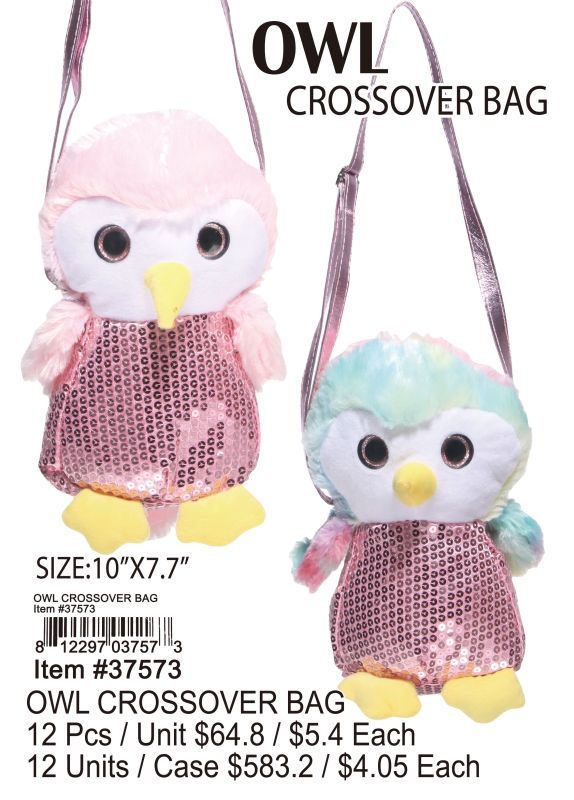 Owl Crossover Bag - 12 Pieces Unit
