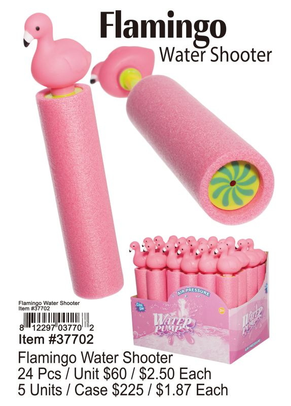 Flamingo Water Shooter - 24 Pieces Unit