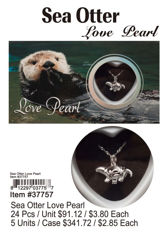 Sea Otter Love Pearl - 24 Pieces Unit