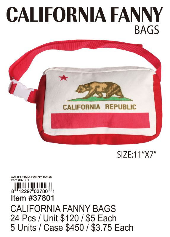 California Fanny Bags - 24 Pieces Unit