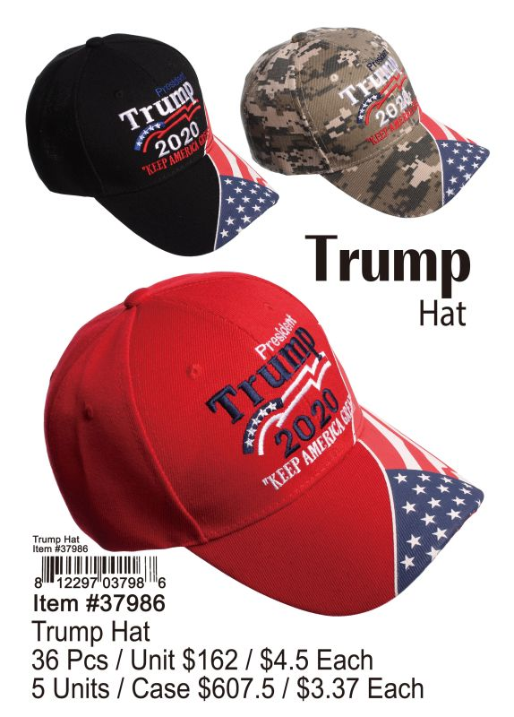 Trump Hat - 36 Pieces Unit