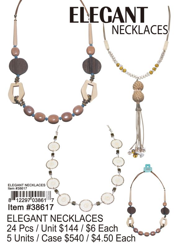 Elegant Necklaces - 24 Pieces Unit