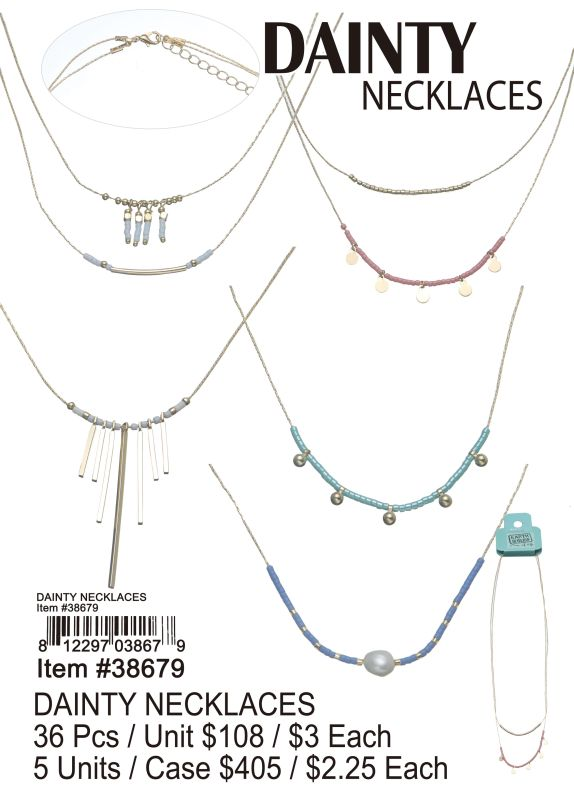 Dainty Necklaces - 36 Pieces Unit
