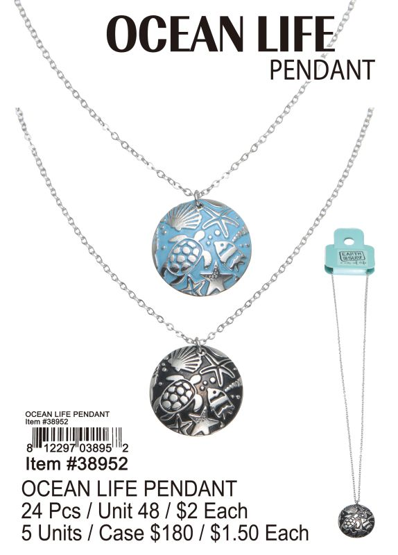 Ocean Life Pendant - 24 Pieces Unit