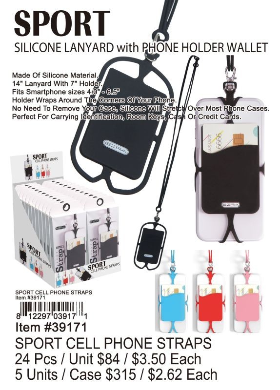 Sport Cell Phone Straps - 24 Pieces Unit