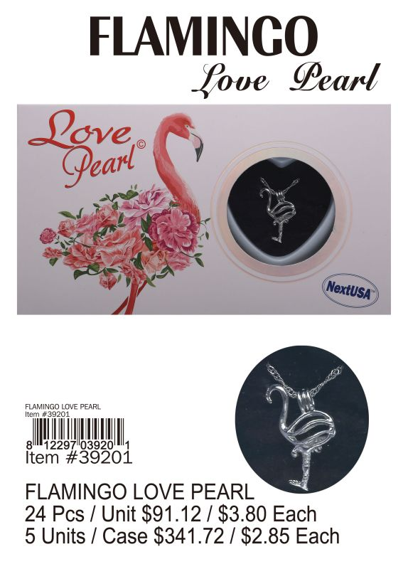 Flamingo Love Pearl - 24 Pieces Unit