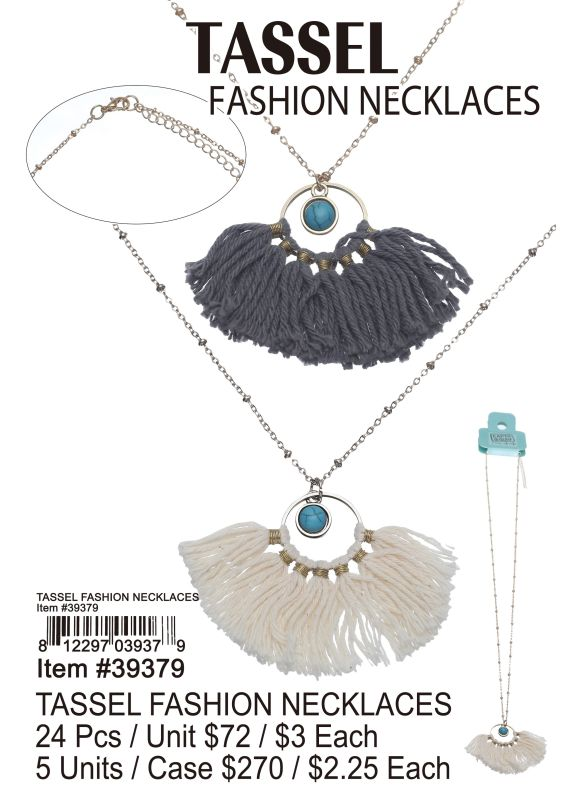 Tassel Fashion Necklaces - 24 Pieces Unit