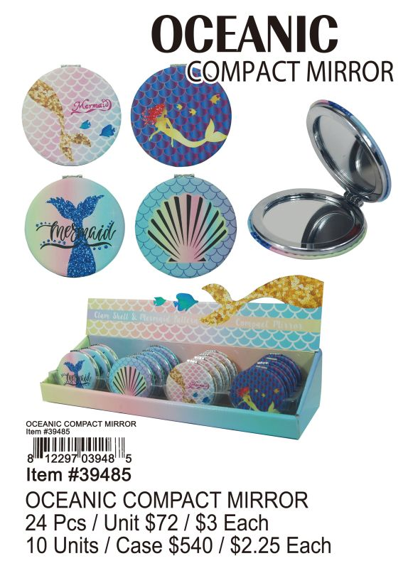 Oceanic Compact Mirror - 24 Pieces Unit