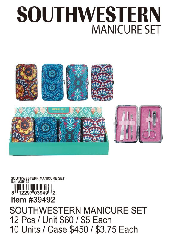 Southwestern Manicure Set - 12 Pieces Unit
