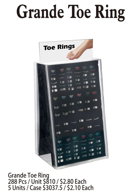 Grande Toe Ring - 288 Pieces Unit