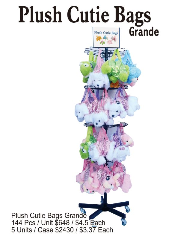 Plush Cutie Bags Grande - 144 Pieces Unit