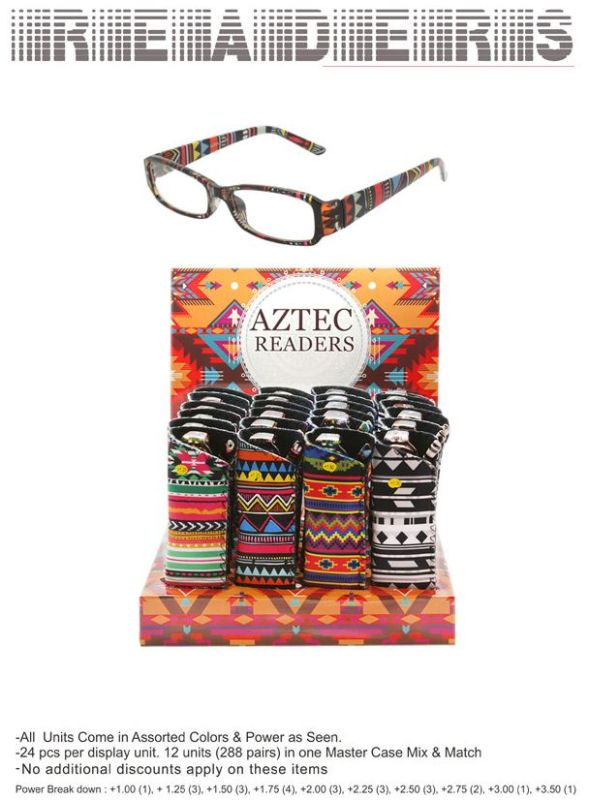 WoMens Aztec Pattern Readers - 24 Pieces Unit